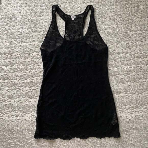 Aritzia Wilfred Black Lace Tank Top